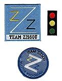 Team Zissou Life Aquatic LogoTraffic Light Frogman Ballcap Bundle 3pcs Iron ON Costume Patch