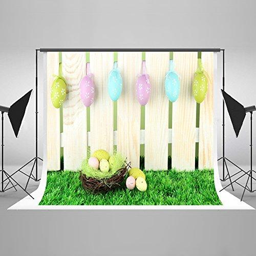 KateHome PHOTOSTUDIOS Ostern Fotografie Kulisse 7×5ft(2,2×1,5m) Frühling Foto Kulissen Eier Fotografie Hintergrund Neugeborenen Hintergrund für Studio