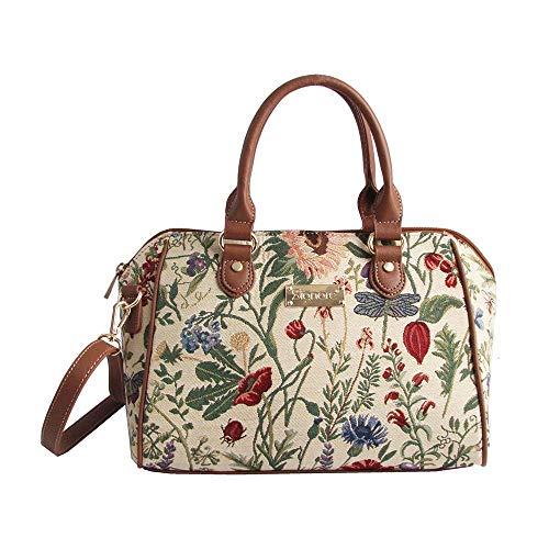 Signare Tapestry - Borsa a tracolla da donna con motivo floreale e giardino