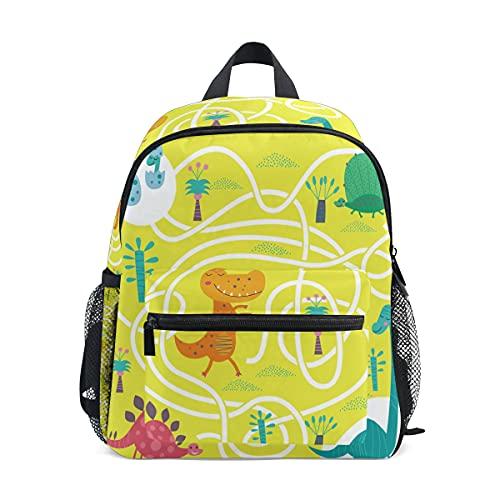 Mini Zaino Scuola College Bag Bambini Bookbag per Ragazzi Ragazze 00 Dino Dinosaur Maze Gioco Da Tavolo Per I Bambini