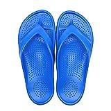 Rigamonti Chanclas unisex para adulto, fabricadas en EVA, un material impermeable, elástico y suave, ideal para la piscina, la playa y los paseos de verano Made in Italy - Color China azul - 39/40