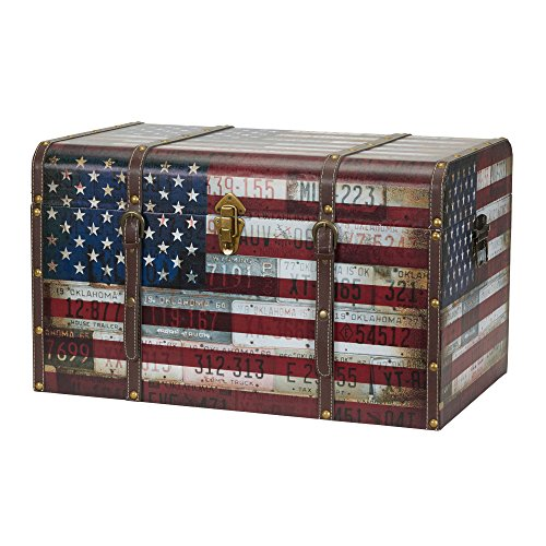 Household Essentials 9203-1 Jumbo Decorative Home Storage Trunk