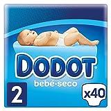 Dodot - Pañales con Canales de Aire Bebé-Seco, Talla 2, para Bebes de 4 a 8 kg...