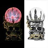Luce cranio elettrostatica del sensore di tocco di cristallo del cranio di Halloween che t...