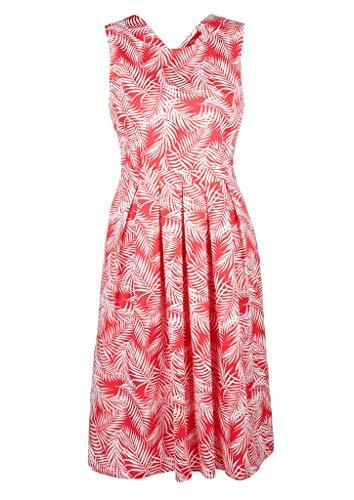 s.Oliver RED LABEL Damen Kleid aus Baumwollsatin raspberry AOP 38