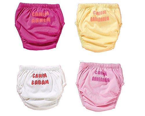 origin-AL Home & Style origin-AL Home & Style Turkish 4er Pack Wasserdicht Baby Lernwindel Trainerhosen Unterwäsche Windeln Windelhose zum Toilettentraining Töpfchentraining (Set, 90)