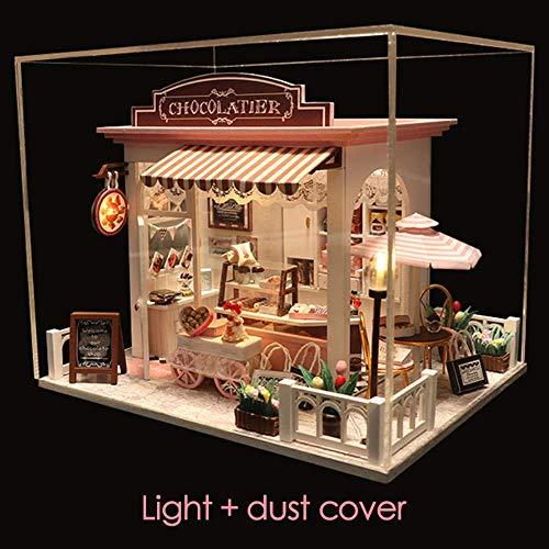 Diy Mini Doll House Miniatura Diy Dollhouse Con Muebles Casa De Madera Tiempo De Espera Juguetes Para Niños Cumpleaños