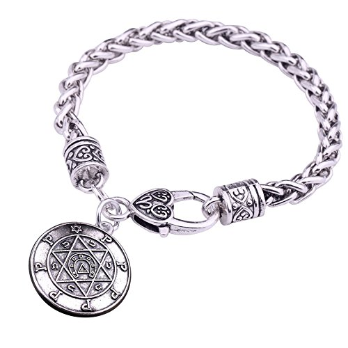 fishhook - Pulsera de Herradura con Estrella judía de David, talismá
