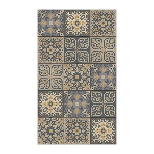 Plage Vinilos para Escaleras-Azulejos Antiguos Ciola, Gris, 19x3x100 cm, 3 Unidades