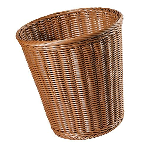 Papelera de mimbre de plástico puede imitar el cubo de basura tejido al cubo de basura desperdizado del cubo redondo de basura organizador...