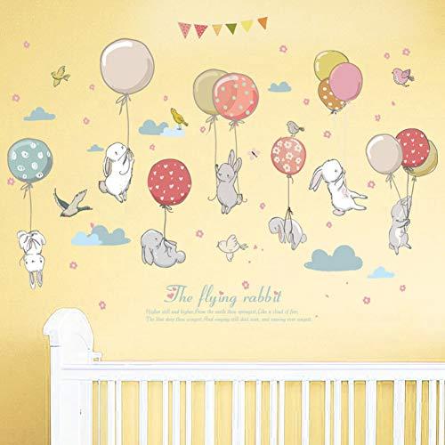 VCTQR muur Stickers behang wolken DIY muurschildering schattig ballon konijn konijn muur Sticker voor kinderen kamer decor meubels garderobe slaapkamer woonkamer Decal
