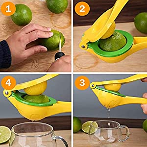 Mini Manual Lemon Squeezer Juicer, Lemon Lime Squeezer, Premium Multi-function Fruit Press Orange Citrus Juicer Squeezer… |