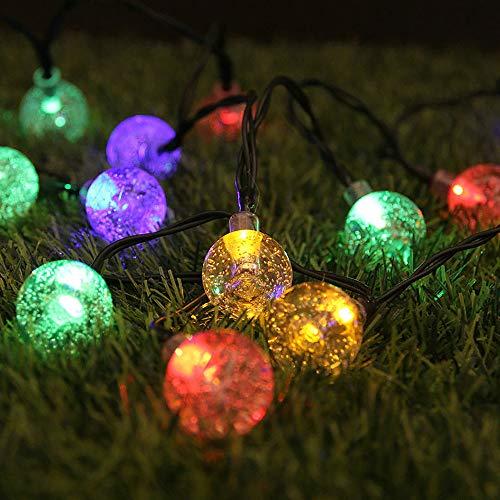 One plus one Fuente de alimentación de luz Solar LED String Fairy Tale Lamp Lámpara de jardín al Aire Libre Decoración Multi-tamaño Opciones,1.7cm Color,5M