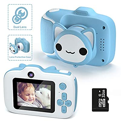 Kids Camera,HONEYWHALE Toddler Camera Child Digital Cameras Kids Video Camcorder,Best Birthday Gifts for 3-12 Year Old Boys and Girls with 32GB SD Card from HONEYWHALE