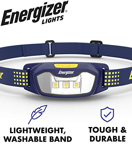 Energizer LED Headlamp Flashlight CS-125 - Running, Camping, and Outdoor Headlamps - Best Head Lamp for Adults and Kids, Batteries Included
