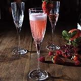 RCR 26232020006 Chic Sektgläser aus Luxion-Kristall, 150 ml, 6er-Set Champagne Glasses, Glas - 6