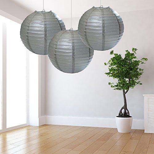 Grote zilveren lantaarns Pack van 3
