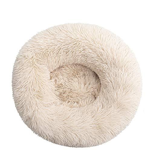 Cama redonda para gatos y gatos, suave y larga, para mascotas, ideal para perros, cesta de productos de mascotas, cojín para gatos o mascotas (color: verde aguamarina, tamaño: 50 cm)