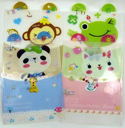 Mignon Oreille des animaux Chemise plastique (4 pièces de motifs assortis)