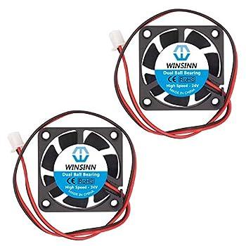 WINSINN Dual Ball Bearings 40mm Fan Brushless Cooling 24V 4010 40mm10mm (Pack of 2Pcs