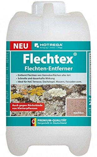HOTREGA® Flechtex Flechten-Entferner 2 l Schnelle & dauerhafte Wirkung - Ideal für Hof | Terrasse | Dachziegel | Mauern |Fassaden.