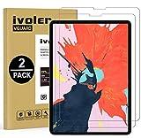 ivoler 2 Unidades Protector de Pantalla para iPad Air 4 10,9 Pulgadas, iPad Pro 11 Pulgadas (2021, 2020 y 2018 Modelo), Cristal Vidrio Templado Premium, 9H Dureza, Antiarañazos, Sin Burbujas