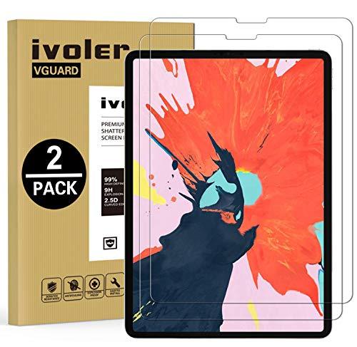 ivoler [2 Stücke] Panzerglas Schutzfolie für Neu iPad Pro 11 Zoll 2020 / iPad Pro 11 Zoll 2018, 9H Härte, Anti- Kratzer, Bläschenfrei, 2.5D Runde Kante