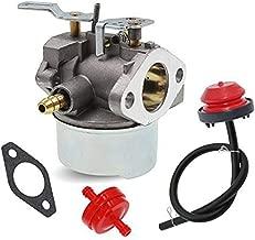 HUZTL 640052 640054 Carburetor for Tecumseh HMSK80 HMSK90 8hp 9hp 10hp LH318SA LH358SA for Snow Blower Generator Chipper Shredder 640054 640349 Carb