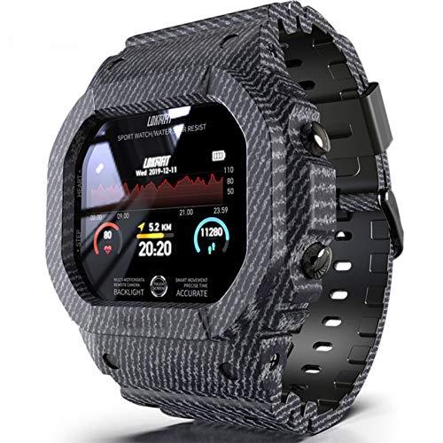 Hombres Natación Reloj Deportivo,Reloj Inteligente Bluetooth Clasificación IP68 Impermeable Fitness Tracker Multifuncional Dama Smart Watch,Carga De Aspiración Magnética-B