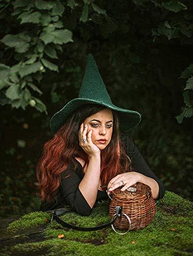 Witch Wizard Green hat handmade wool