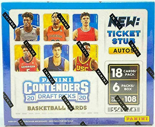 2020-21 PANINI CONTENDERS DRAFT PICKS BASKETBALL HOBBY EDITION FACTORY SEALED BOX Each Box contains on average Six Autographs, Six Base Parallels, Six Variation Parallels, Thirty Base Variations Chase Lamelo Ball and other Top Draft Picks