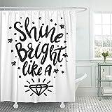 Not applicable Duschvorhang Nursery Sablack & White Shine Bright wie Diamond Duschvorhänge Sets,72X72 In