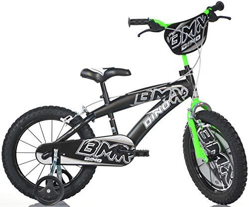 BICICLETTA DINO BIKES BIMBO MISURA 16 BMX BICI BAMBINO ART. 165XC NERO VERDE