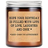LEADO Lavender Scented Soy Candles - Funny Birthday Gifts for Women, Girlfriend, Wife - Humorous Birthday Gifts for Her, Friends Female, Girlfriend, BFF, Bestie - Mature Gifts, Bday Gifts for Women