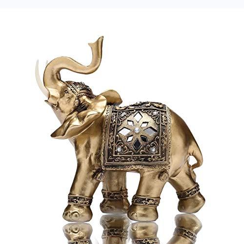 THj Figura de Elefante Figura pequeña Coleccionable con Maleta para decoración del hogar (Grande)