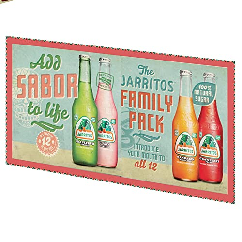 Jarritos Naturally Flavored Soda Variety/Family Pack 12/12.5 fl. oz. Bottle Case (12-Pack)