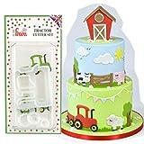 FMM-cutter per pasta di zucchero, motivo trattore, decorazione torte, glasse e fondente se...
