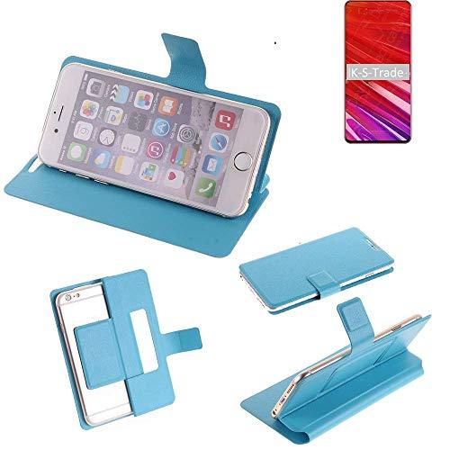 K-S-Trade® Flipcover Für Lenovo Z5 Pro GT Schutz Hülle Schutzhülle Flip Cover Handy Case Smartphone Handyhülle Blau