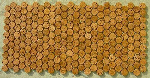 Mosaik Fliesen 1,5 m² Sonderposten Boden Belag Korkmosaik Bad vorversiegelt