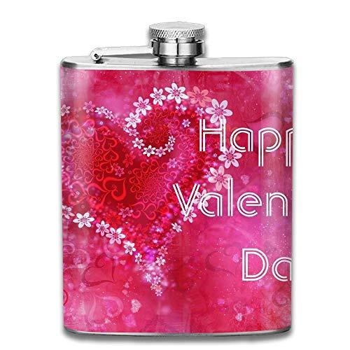 petaca Stainless Steel Hip Flask 7 Oz Happy Valentines Day F