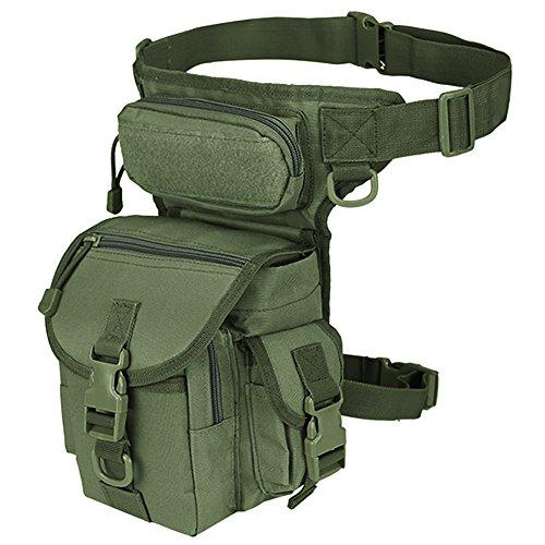 Sac de jambe militaire tactique, idéal pour Paintball, Airsoft, moto, Thermite Versipack, vert militaire