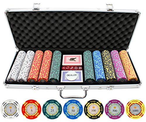 JPC 500 Piece Crown Casino 13.5g Clay Poker Chips