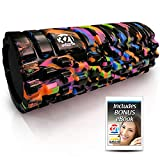321 STRONG Foam Roller - Medium Density Deep Tissue Massager - Muscle Massage + Myofascial Trigger Point Release - Includes 4K eBook - Aurora