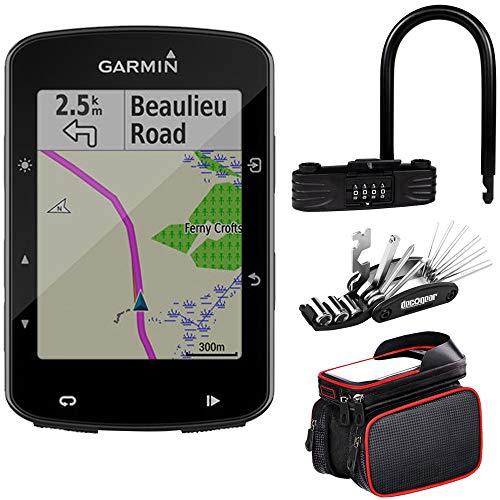 Garmin Edge 520 Plus - Kit de herramientas y soporte para bicicleta (GPS y cristal)