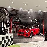 Fototapete Tapete 3D Tapetenwand Auto 3D Änderte Autologohintergrundtapeten-Schönheitssalonautoshowlogo-Dekorationswandgemälde 4S Autowäscheshop-Wandverkleidung-250Cmx175Cm