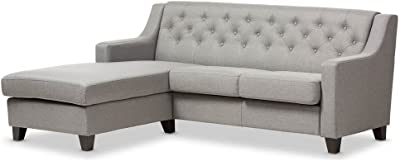 Amazon.com: Inspire Q Knightsbridge Tufted Scroll Arm ...