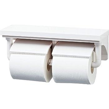 LIXIL(リクシル) INAX 棚付2連紙巻器 ホワイト CF-AA64/WA