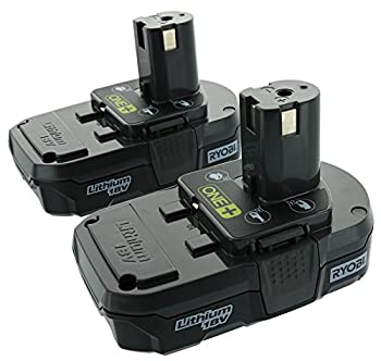 Ryobi P102  18V One+ Compact Lithium Ion Battery 2 Pack