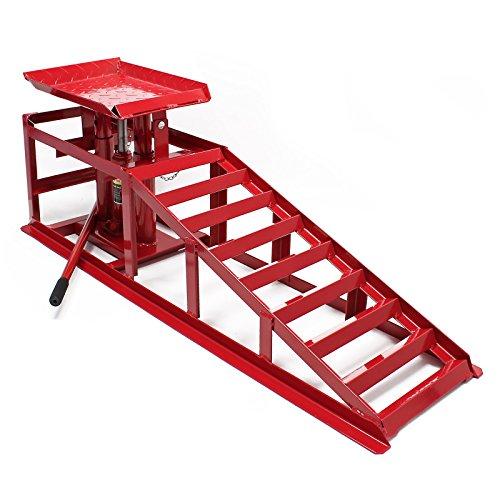 Rampa acceso gato elevador hidraúlico 2000 kg altura regulable ancho rueda 225 mm taller mecánico