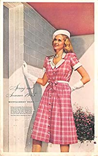 Advertising Post Card Montgomery Wards Springs and Summer 1945